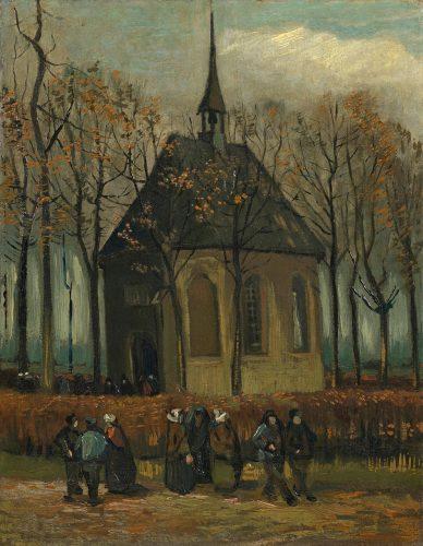 Vincent van Gogh, kościół. Nuenen, sztuka niderlandzka, niezła sztuka