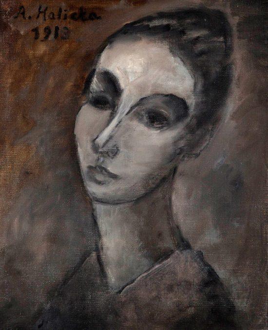 Alicja Halicka, autoportret, sztuka polska, artystki polskie, kobiety w sztuce, polska malarka, niezła sztuka