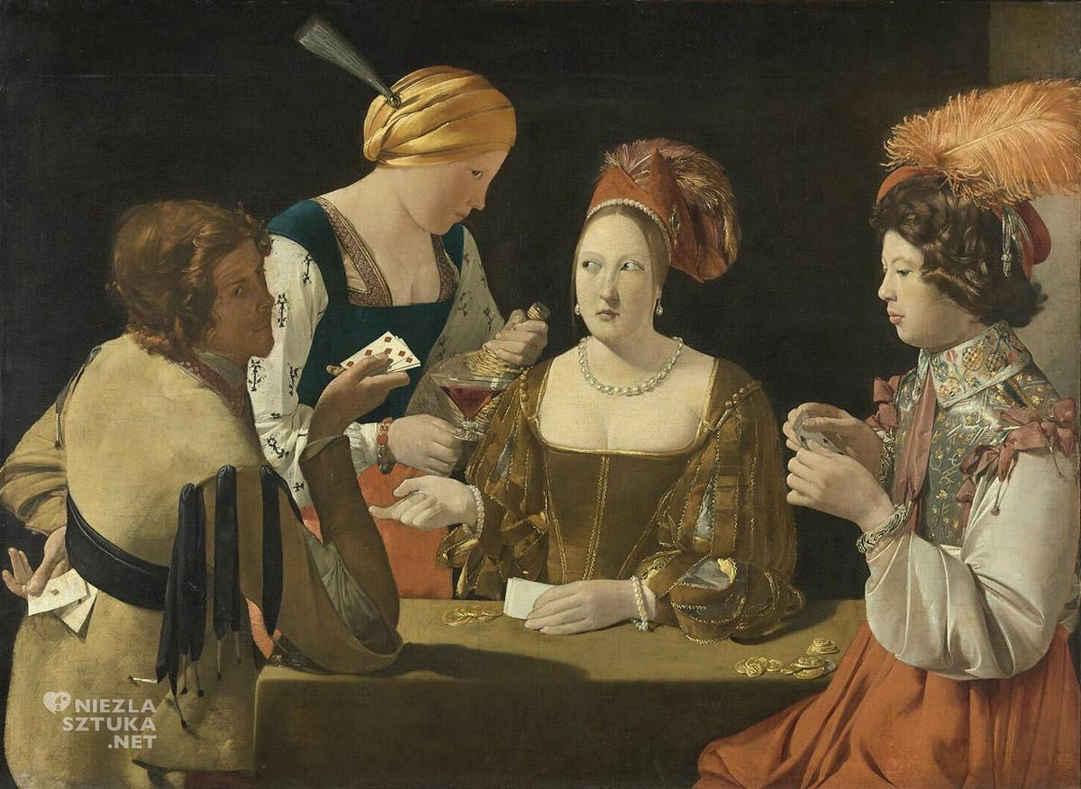 Georges de La Tour, Oszust z asem karo, Luwr, barok, sztuka francuska, Niezła Sztuka