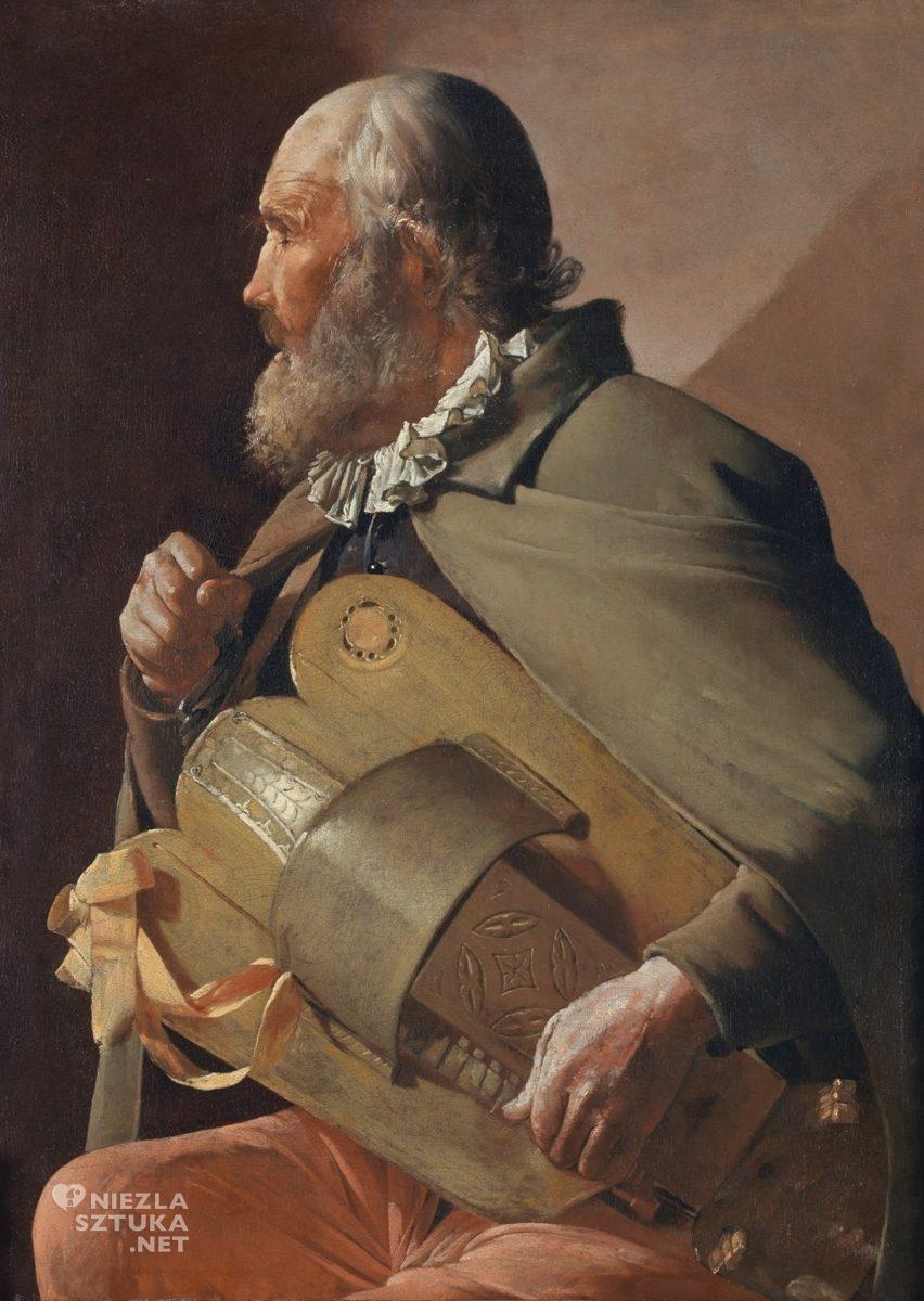 Georges de La Tour, Niewidomy mężczyzna grający na lirze, sztuka francuska, barok, Niezła Sztuka
