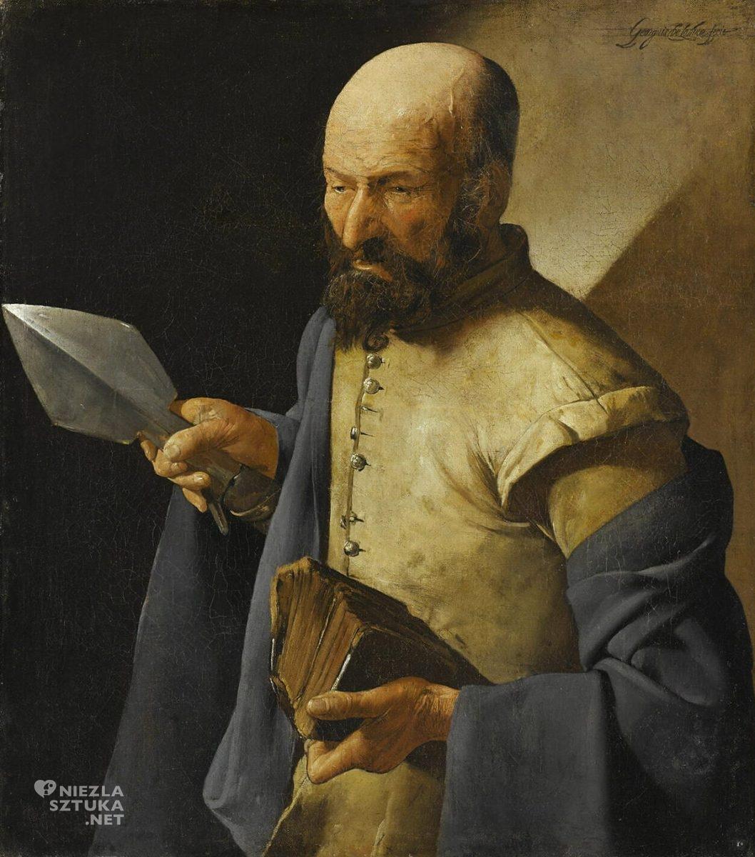 Georges de La Tour, Święty Tomasz, sztuka religijna, barok, sztuka francuska, Niezła Sztuka