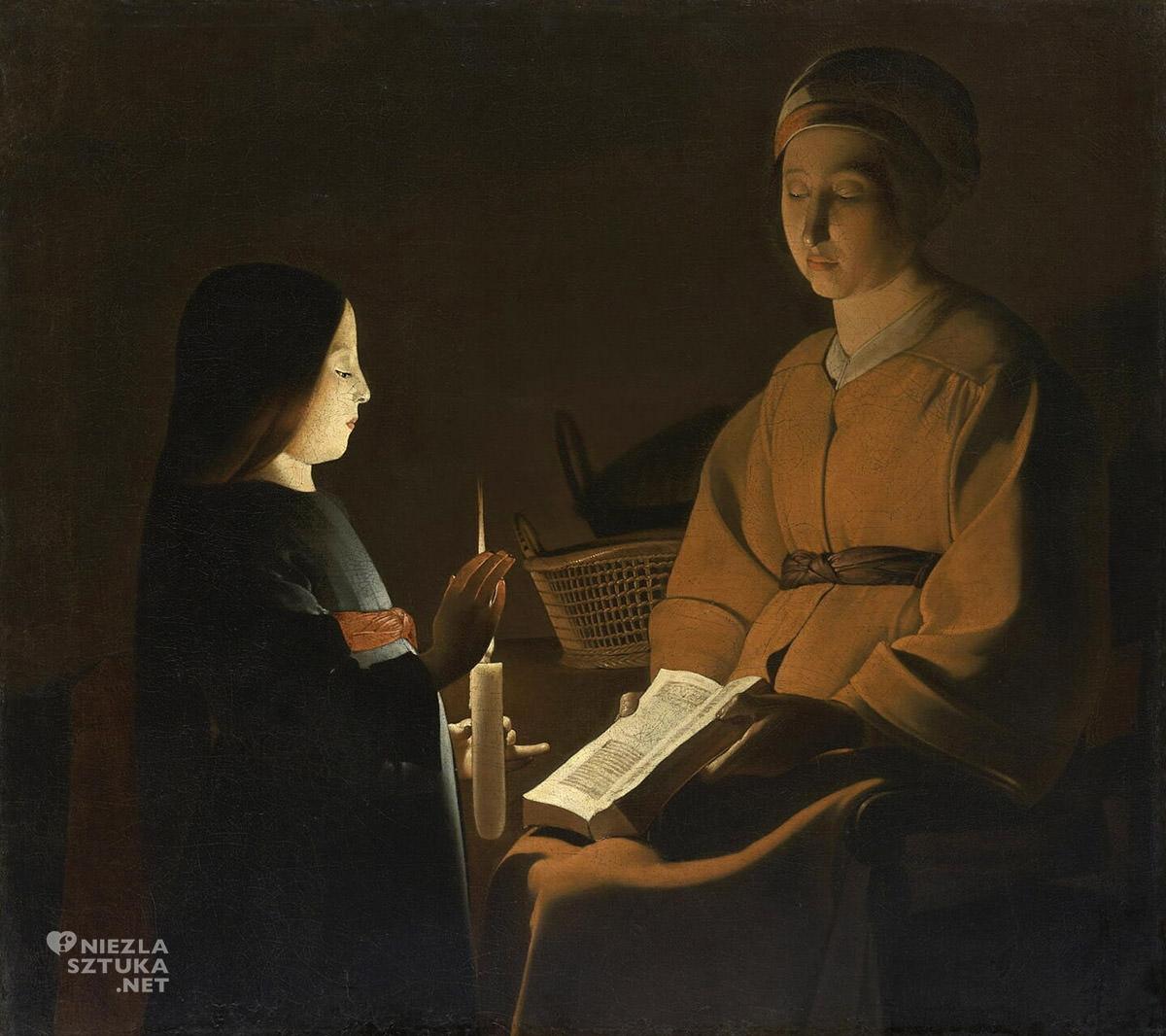 Georges de La Tour, Edukacja dziewicy, barok sztuka francuska, Luwr, Niezła Sztuka