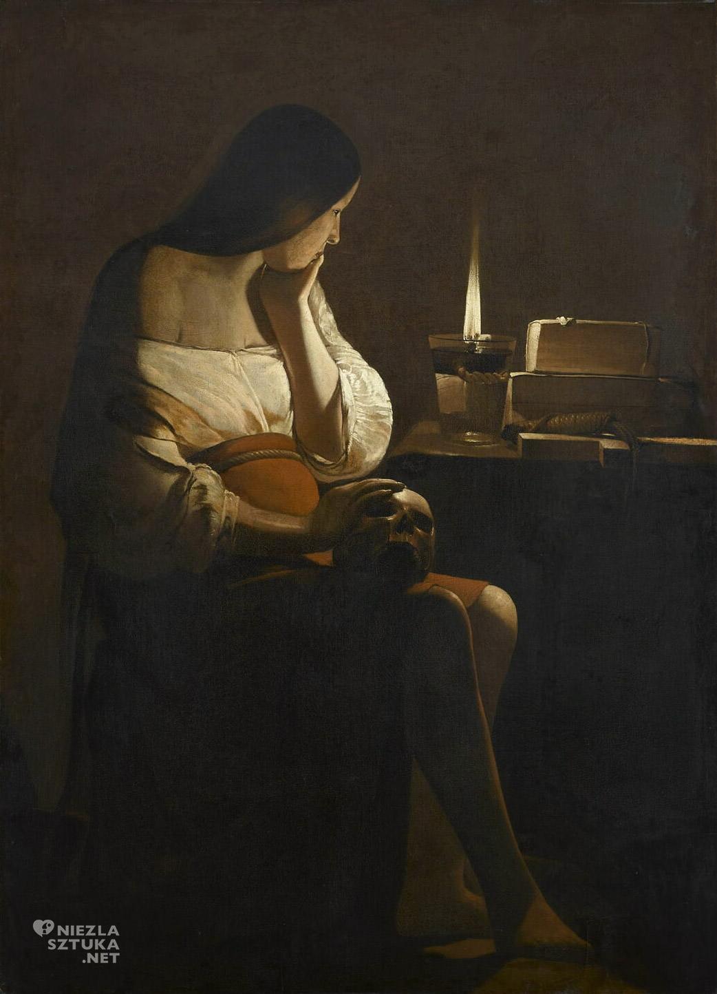 Georges de La Tour, Pokutująca Magdalena, barok, sztuka religijna, Niezła Sztuka