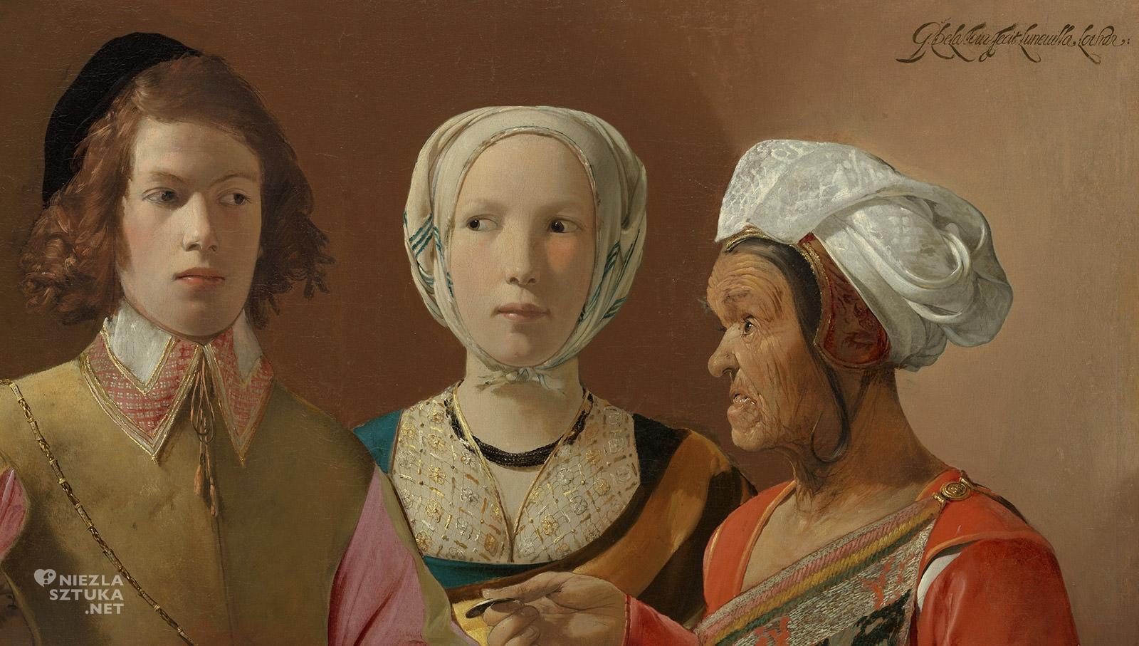 Georges de La Tour, Wróżka, barok, sztuka francuska, detal, Niezła Sztuka