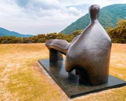 Hakone park, Hakone muzeum, Henry Moore, muzeum na świeżym powietrzu, rzeźba, rzeźba w przestrzeni, sztuka współczesna, Japonia, Hakone, niezła sztuka