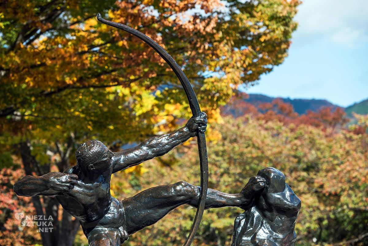 Hakone park, Herkules, Hakone muzeum, muzeum na świeżym powietrzu, rzeźba, rzeźba w przestrzeni, sztuka współczesna, Japonia, Hakone, niezła sztuka