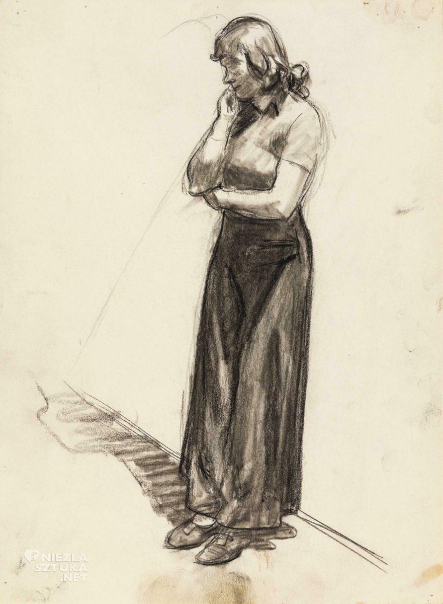 Edward Hopper, szkic, Nowojorskie kino, New York Movie, sztuka amerykańska, Niezła Sztuka