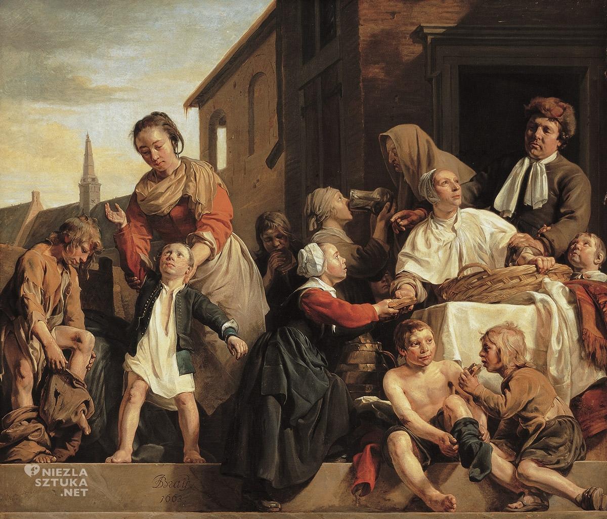 Jan de Bray, Opieka w sierocińcu w Haarlem, sztuka niderlandzka, Niezła Sztuka
