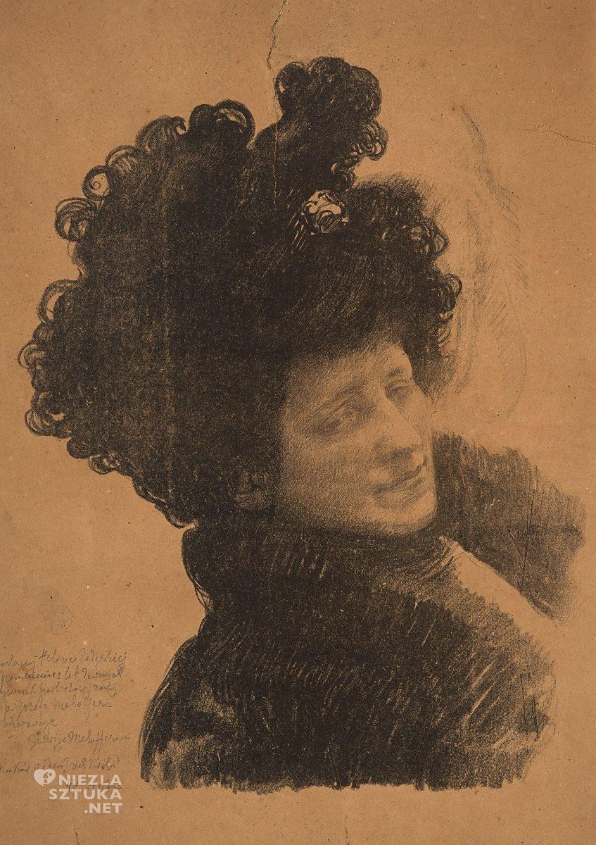Józef Mehoffer, Portret żony artysty, Jadwiga Mehoffer, sztuka polska, Niezła Sztuka