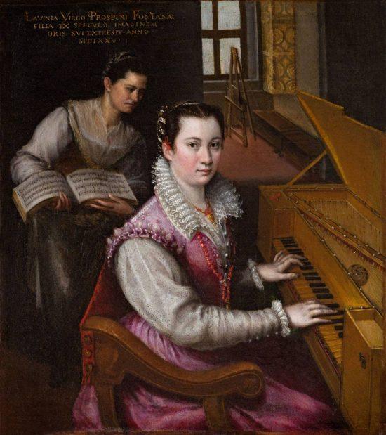Lavinia Fontana, Autoportret przy szpinecie, renesans, kobiety w sztuce, Niezła Sztuka
