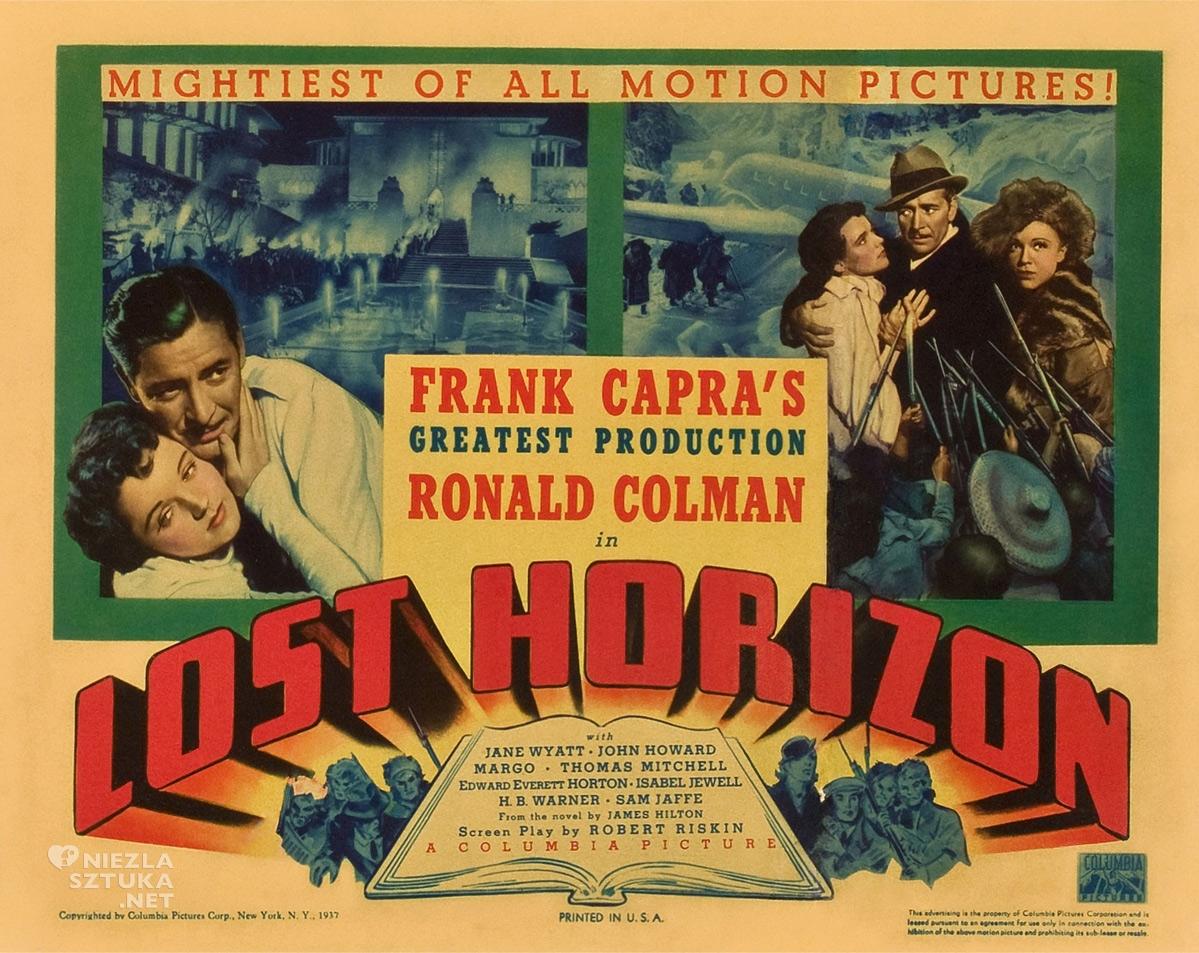 Zaginiony Horyzont, Frank Capra, film, plakat filmowy, Niezła Sztuka