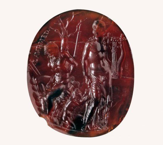 gemma, Pieczęć Nerona, Neron, Apollo, Marsjasz, Olimpus, Muzeum Archeologiczne, Neapol