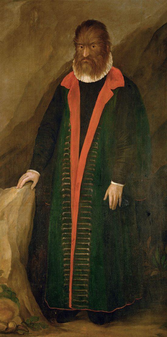 Portret Petrusa Gonsalvusa, XVI wiek, Zamek Ambras,Niezła Sztuka