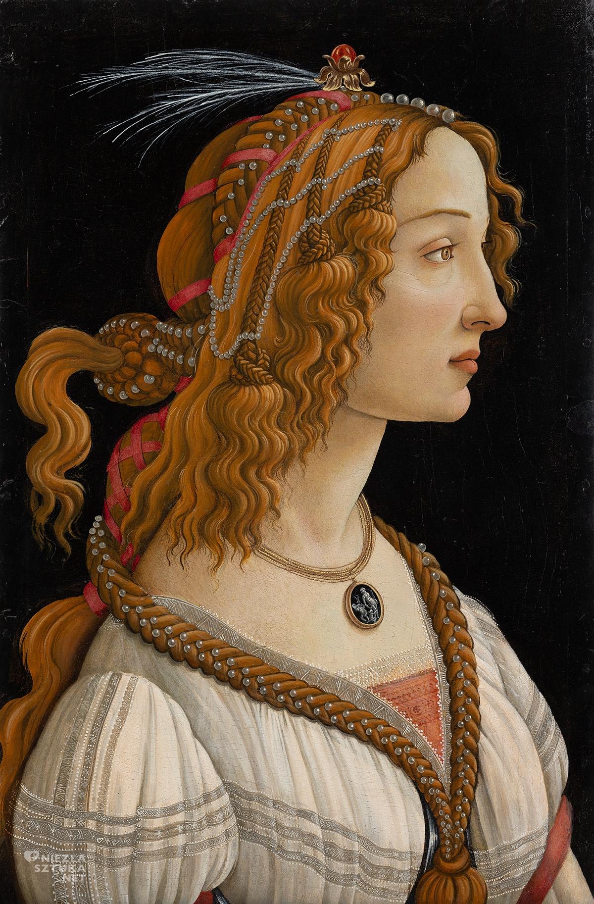 Sandro Botticelli, Simonetta Vespucci, malarstwo włoskie, niezła sztuka