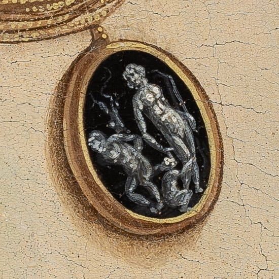 Sandro Botticelli, kamea, Portret młodej kobiety, Simonetta Vespucci, malarstwo reneransowe, niezła sztuka