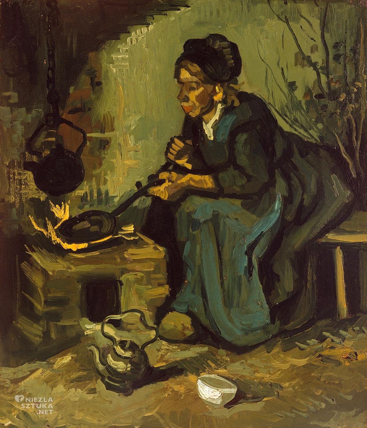 Vincent van Gogh, Chłopka gotująca na palenisku, Jedzący kartofle, Niezła Sztuka