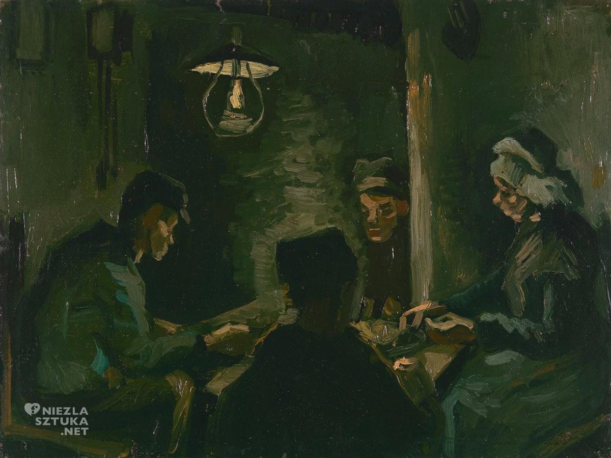 Vincent van Gogh, szkic, Jedzący kartofle, Niezła Sztuka