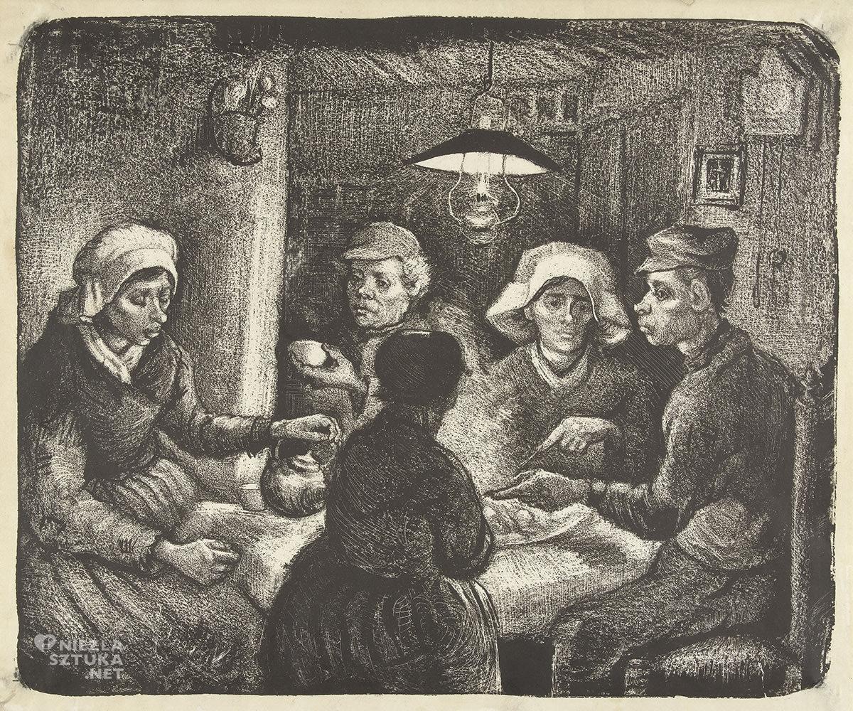Vincent van Gogh, jedzący kartofle, impresjonizm, niezła sztuka