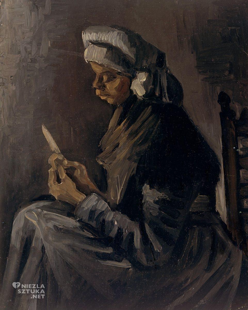 Vincent van Gogh, impresjonizm, kobieta, portret, niezła sztuka
