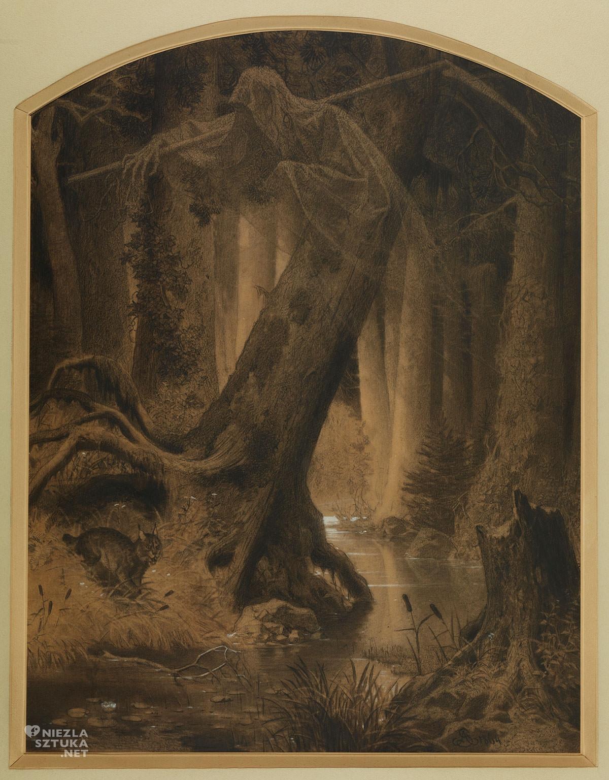Artur Grottger, Puszcza, Lituania, sztuka polska, malarstwo polskie XIX-wieczne, Niezła Sztuka