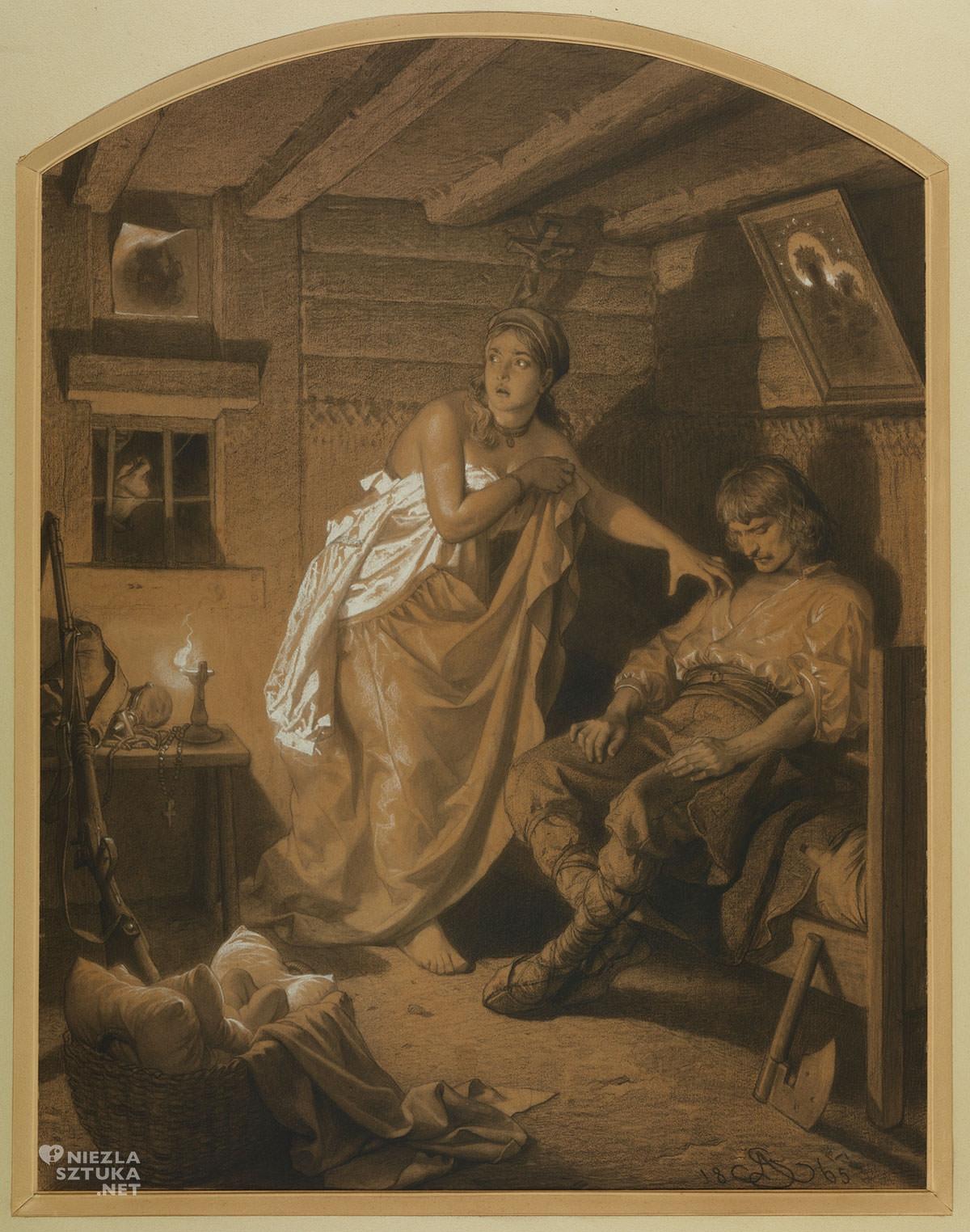Artur Grottger, Znak, Lituania, sztuka polska, XIX wiek, Niezła Sztuka