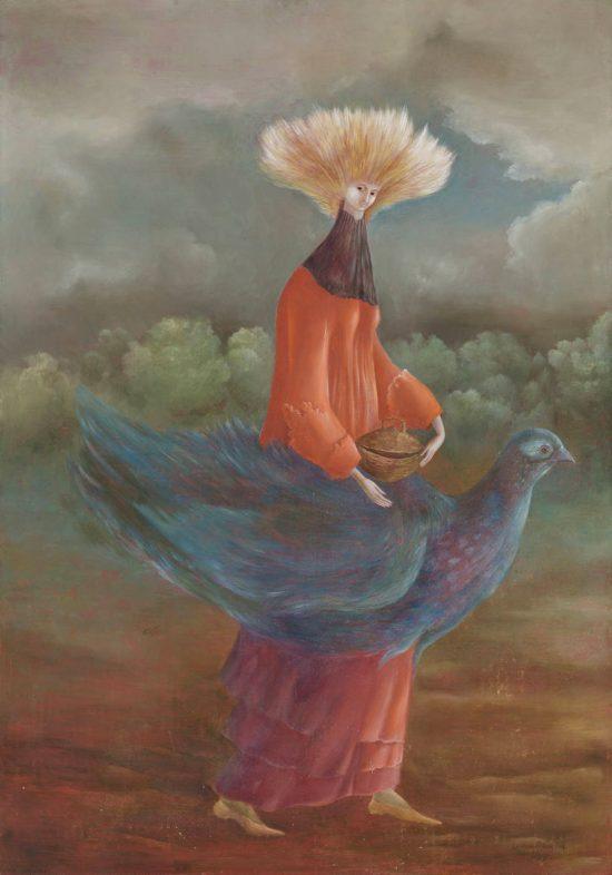 Leonora Carrington, Portrait of The Late Mrs Partridge, surrealizm, Chicago, niezła sztuka