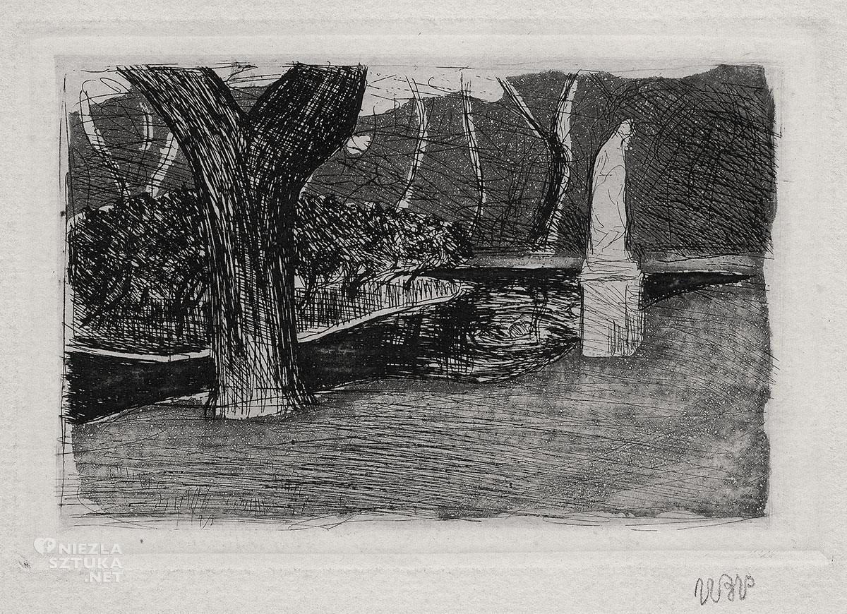 Wojciech Weiss, Ogród Luksemburski, Paryż, Niezła Sztuka