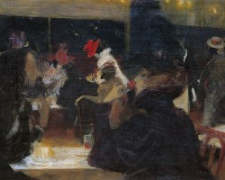 Wojciech Weiss, Cafe d'Arcourt, Kawiarnia paryska, sztuka polska, Niezła Sztuka