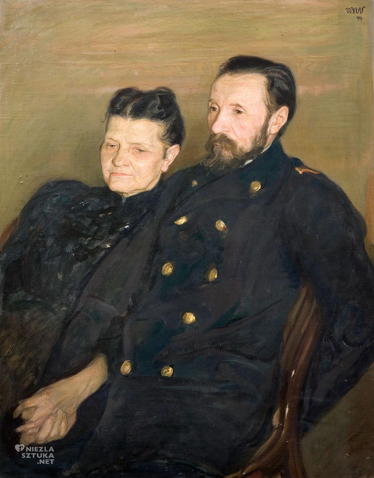 Wojciech Weiss, Portret rodziców, sztuka polska, malarstwo polskie, Niezła Sztuka