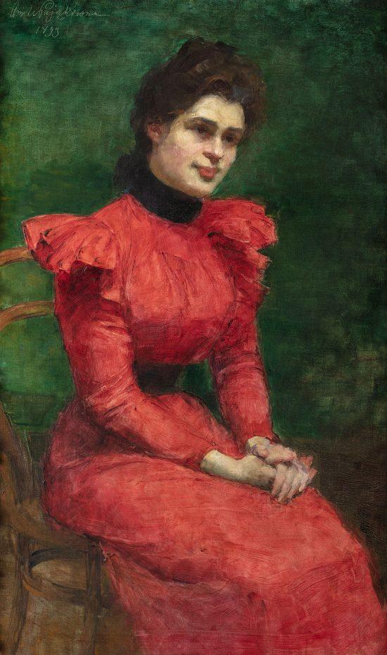 Aniela Pająkówna, Portret Heleny Barlińskiej, siostry artystki, kobiety w sztuce, Niezła Sztuka