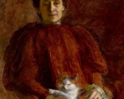 Aniela Pająkówna, Kobieta z kotem, malarstwo polskie, sztuka polska, kobiety w sztuce, Montparnasse, Niezła Sztuka