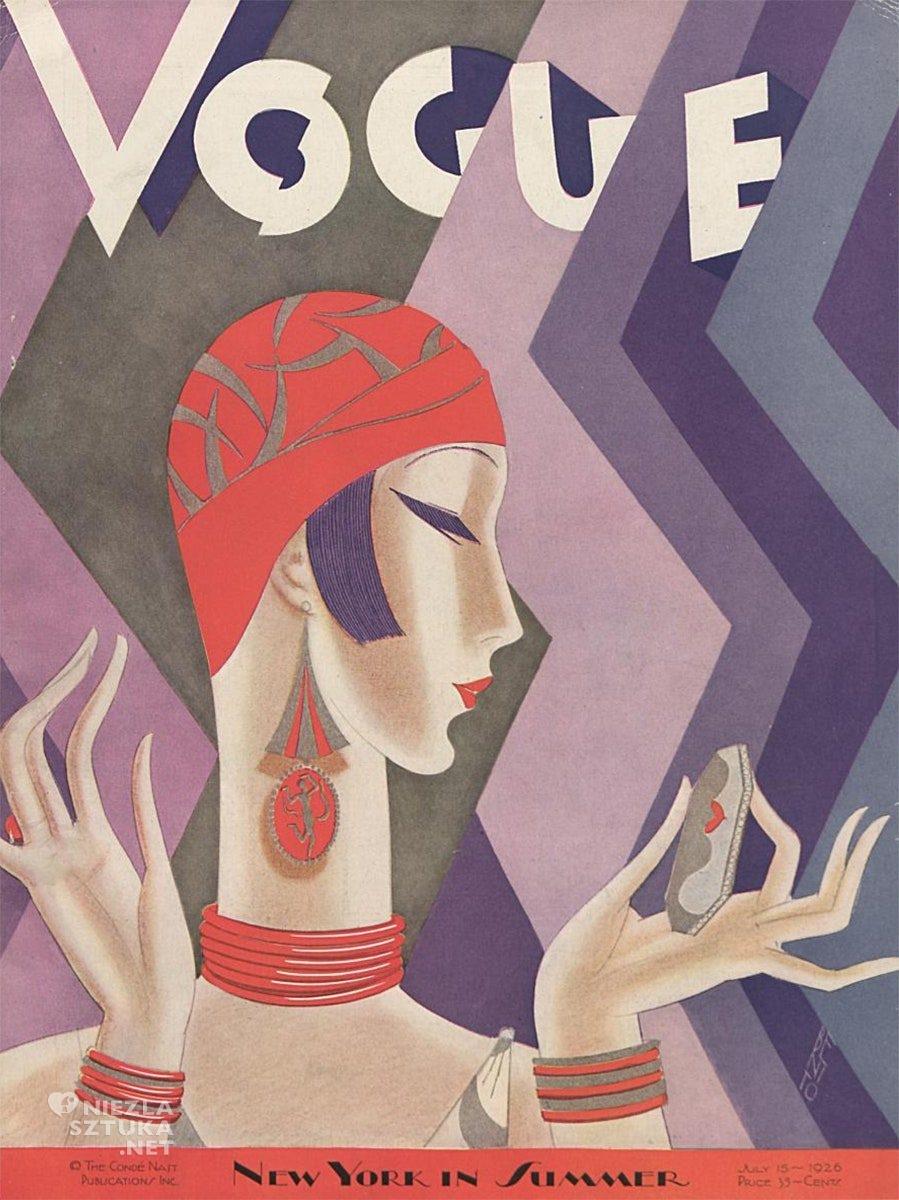 Vogue, art deco, vogue okładka, niezła sztuka