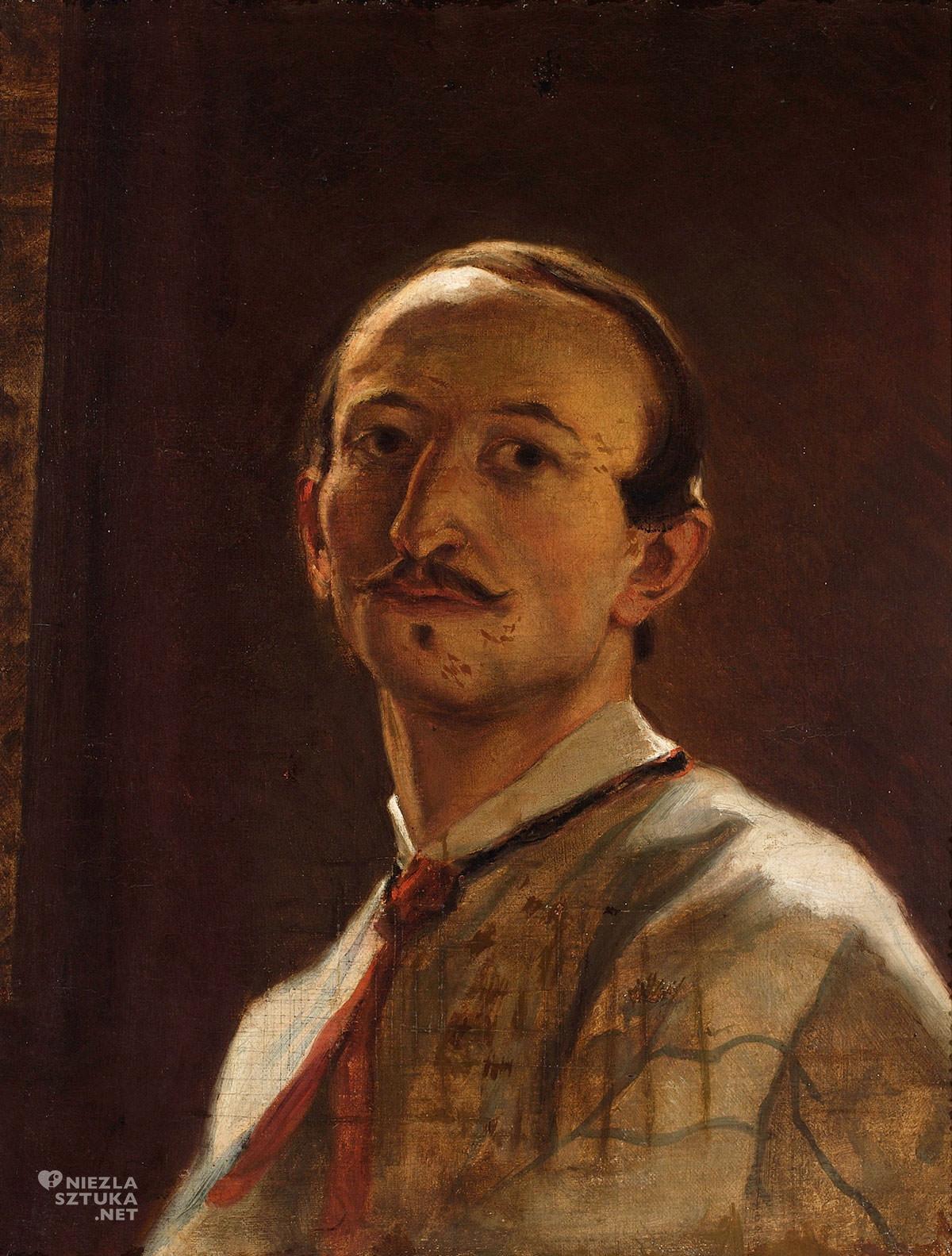 Artur Grottger, Portret własny, Autoportret, sztuka polska, Niezła Sztuka