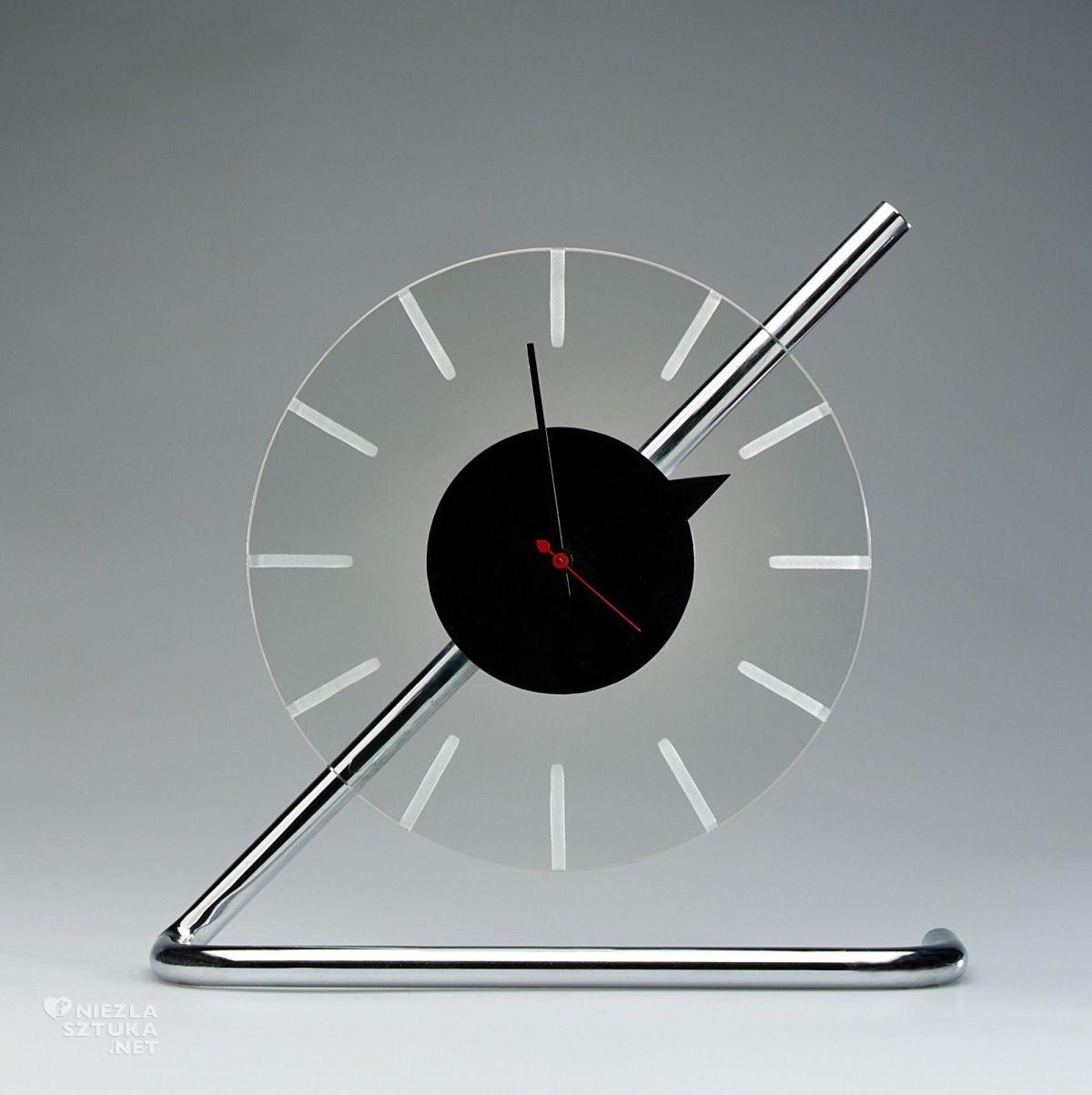 Gilbert Rohde, Electric clock, art deco, sztuka użytkowa, niezła sztuka