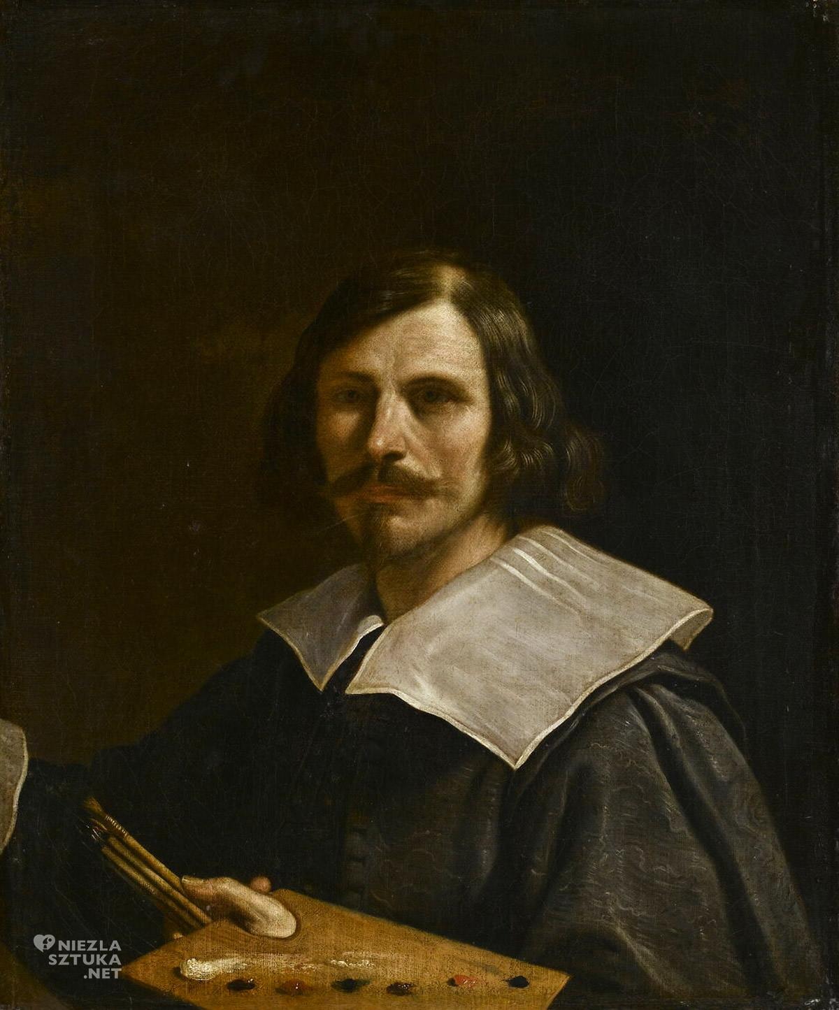 Guercino, Autoportret, Giovanni Francesco Barbieri, sztuka włoska, malarstwo włoskie, barok, niezła sztuka