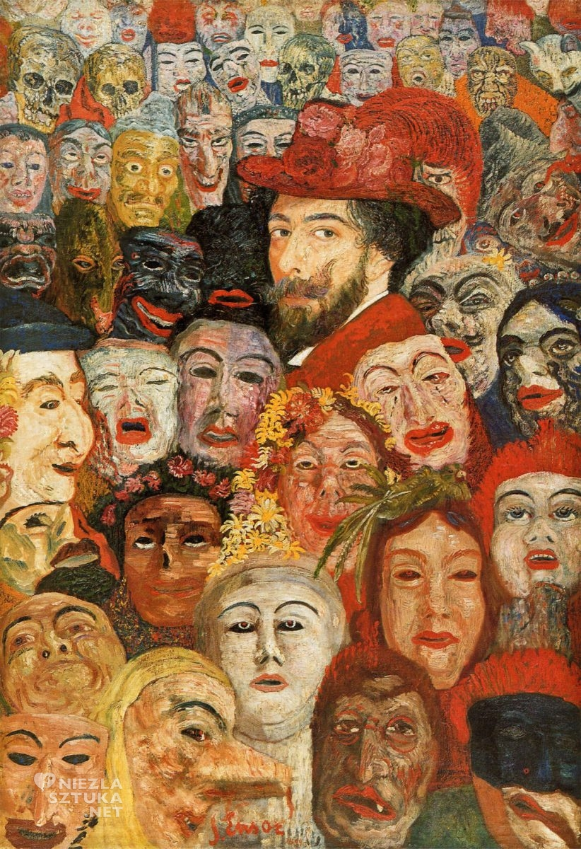 James Ensor, Autoportretu, maski, niezła sztuka