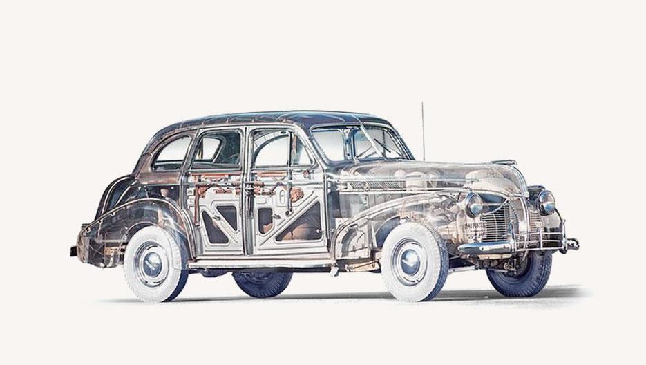 Pontiac Plexiglas Ghost Car, art deco, sztuka użytkowa, niezła sztuka