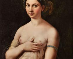 Rafael, La Fornarina, portret, sztuka włoska, niezła sztuka
