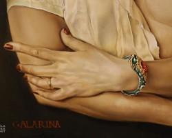 Salvador Dali, Gala Dali, portret, kobieta, uroboros, niezła sztuka