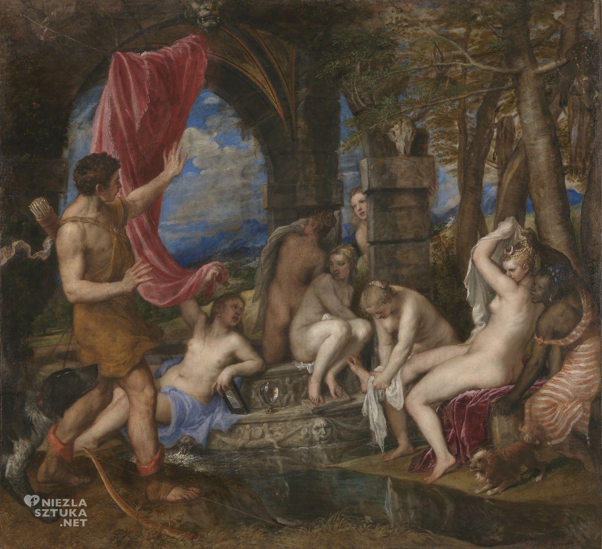 Tycjan, Diana i Akteon, renesans, sztuka włoska, Niezła Sztuka