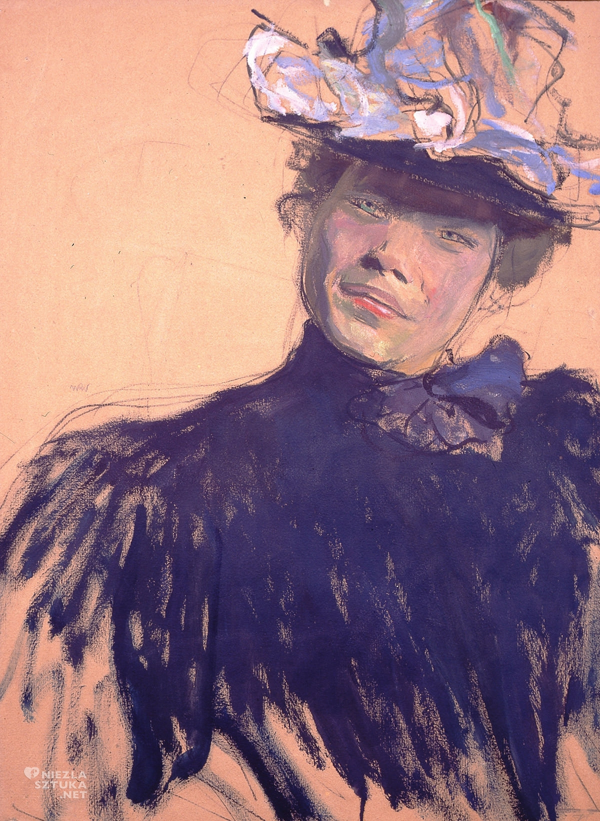 Wojciech Weiss, Paryżanka, Muzeum Mazowieckie w Płocku, sztuka polska, malarstwo polskie, niezła sztuka