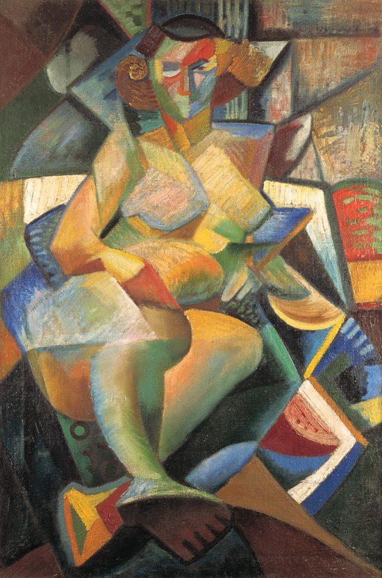 Jonasz Stern, Akt, kobieta, kubizm, Muzeum Narodowe w Krakowie