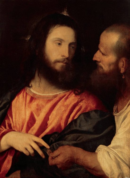 Tycjan, Grosz czynszowy, motywy biblijne, renesans, sztuka włoska, szkoła wenecka, Niezła Sztuka
