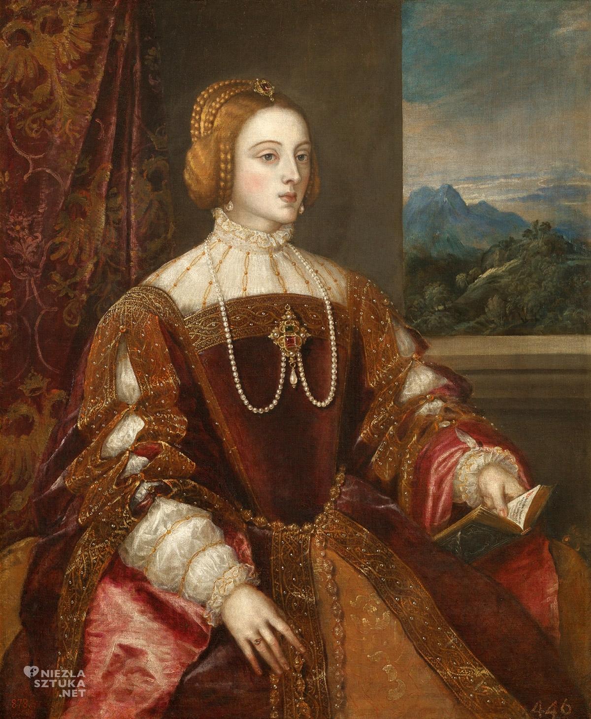 Tycjan, Isabella Portugalska, sztuka włoska, szkoła wenecka, renesans, Niezła Sztuka