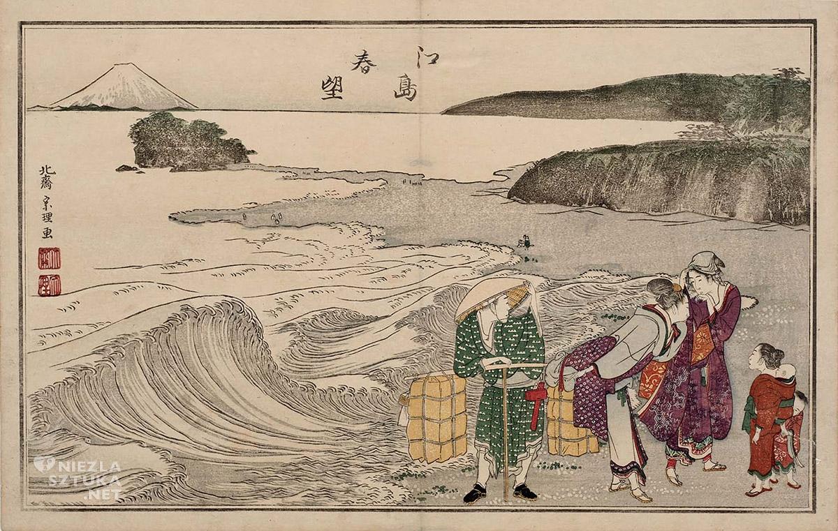 Hokusai, Wiosna na Enoshimie, sztuka japońska, Niezła Sztuka