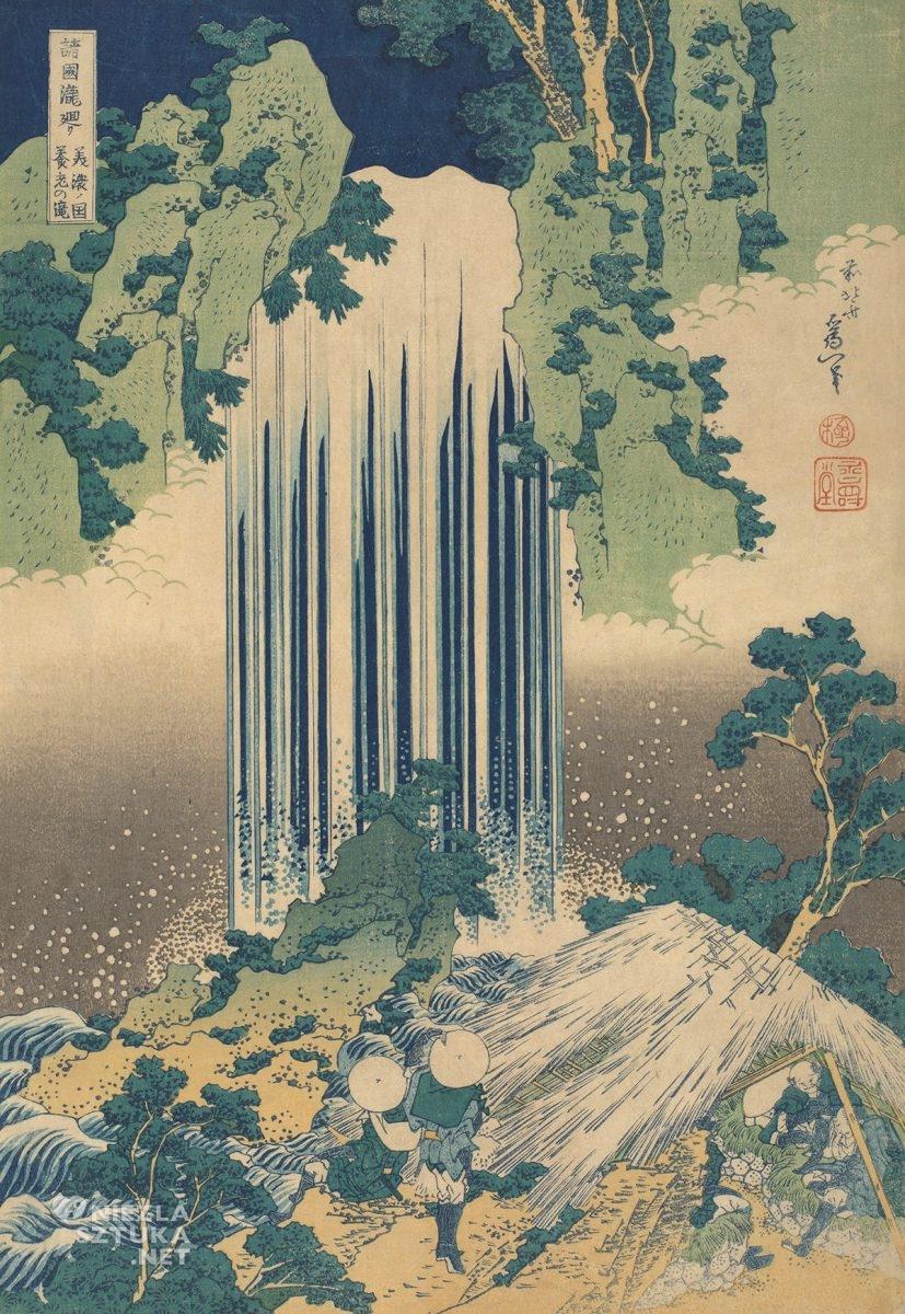Hokusai Katsushika, A Tour of the Waterfalls of the Provinces, sztuka japońska, Niezła Sztuka
