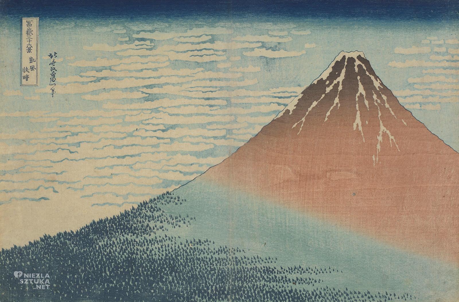 Hokusai Katsushika, Piękna pogoda przy południowym wietrze, sztuka japońska, Niezła Sztuka