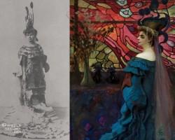 Kazimierz Stabrowski, Paw, Portret Zofii z Jakimowiczów Borucińskiej, sztuka polska, Muzeum Narodowe w Warszawie, Niezła Sztuka