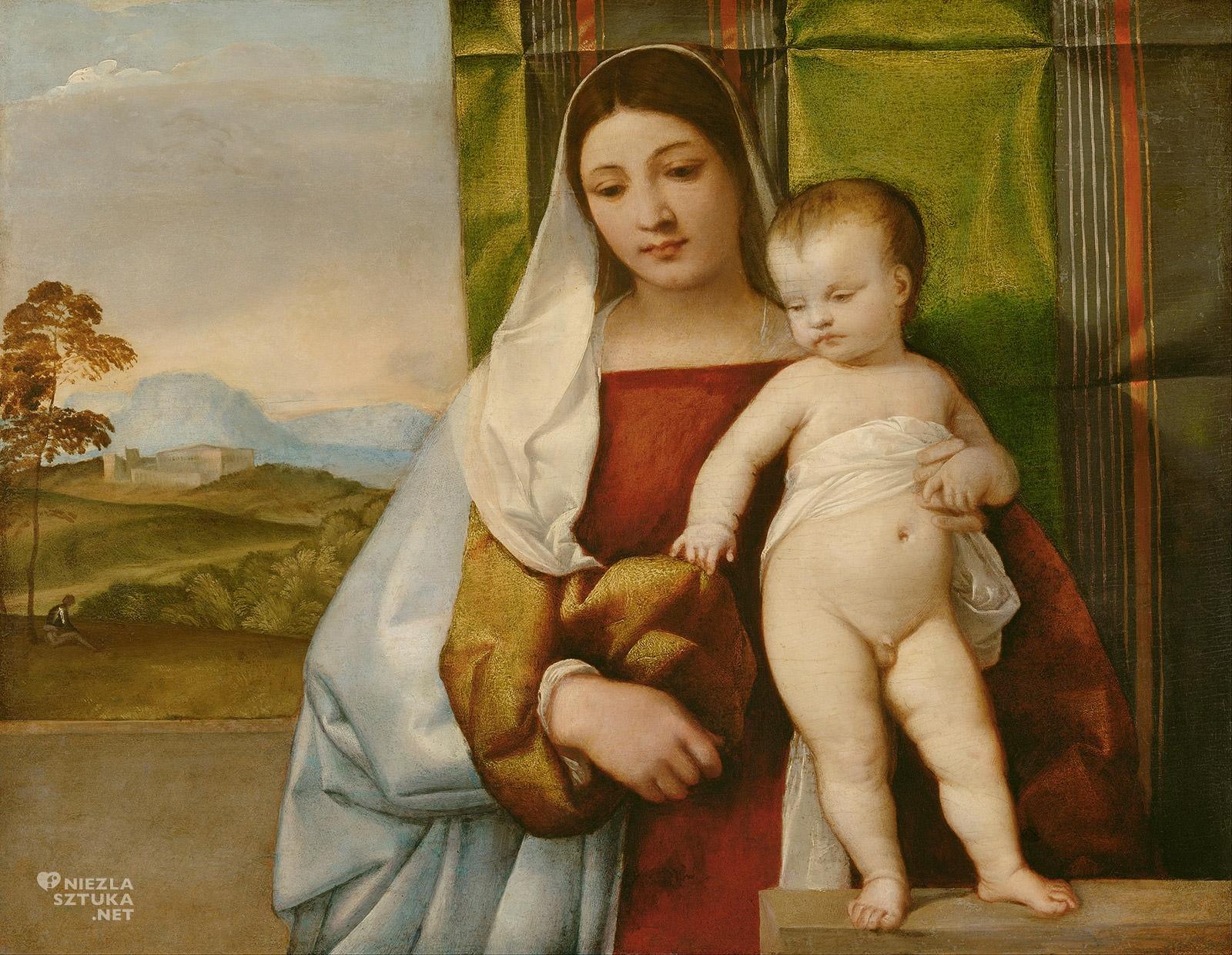 Tycjan, Madonna cygańska, renesans, szkoła wenecka, sztuka włoska, Niezła Sztuka