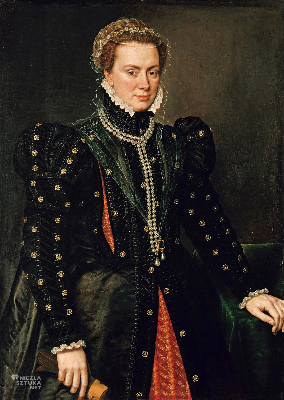 Anthonis Mor, Małgorzata Parmeńska, portret, Niezła Sztuka